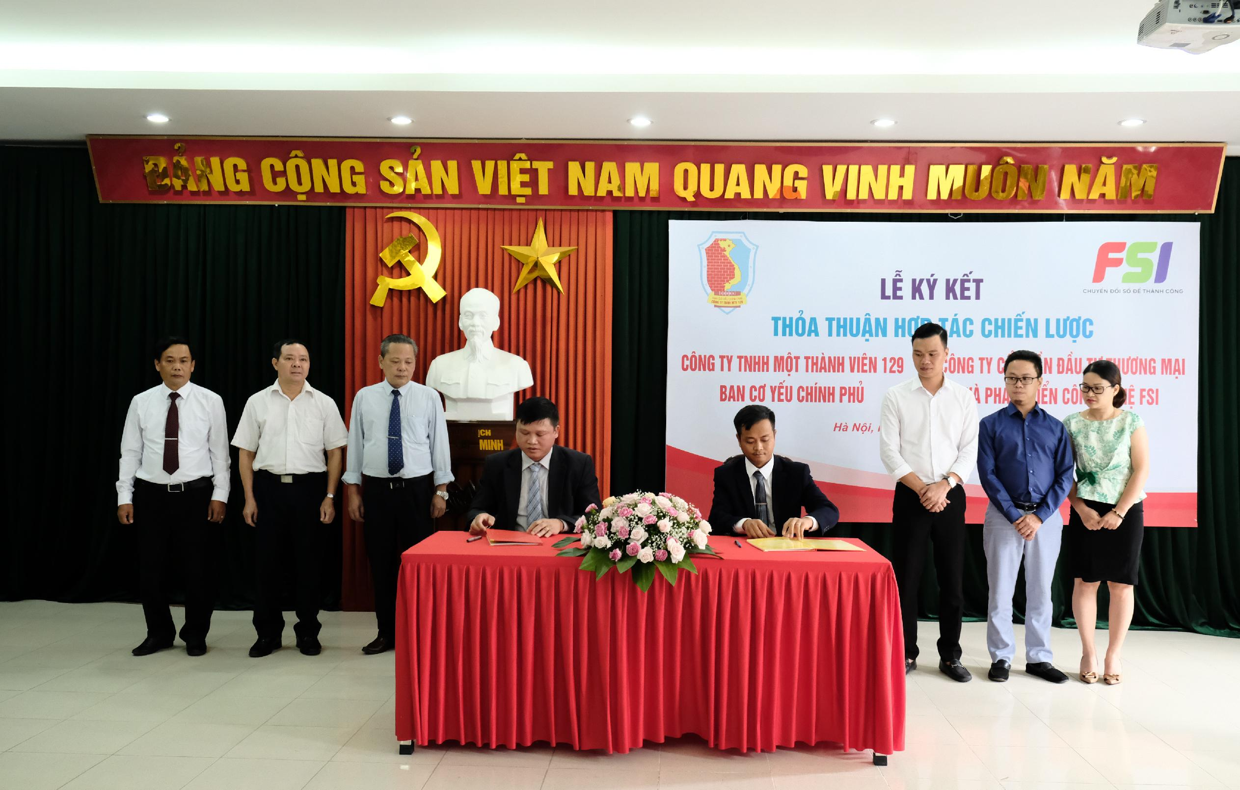 Signing ceremony of a strategic cooperation agreement between FSI and 129 Co.,  Ltd. - Government Cipher Committee